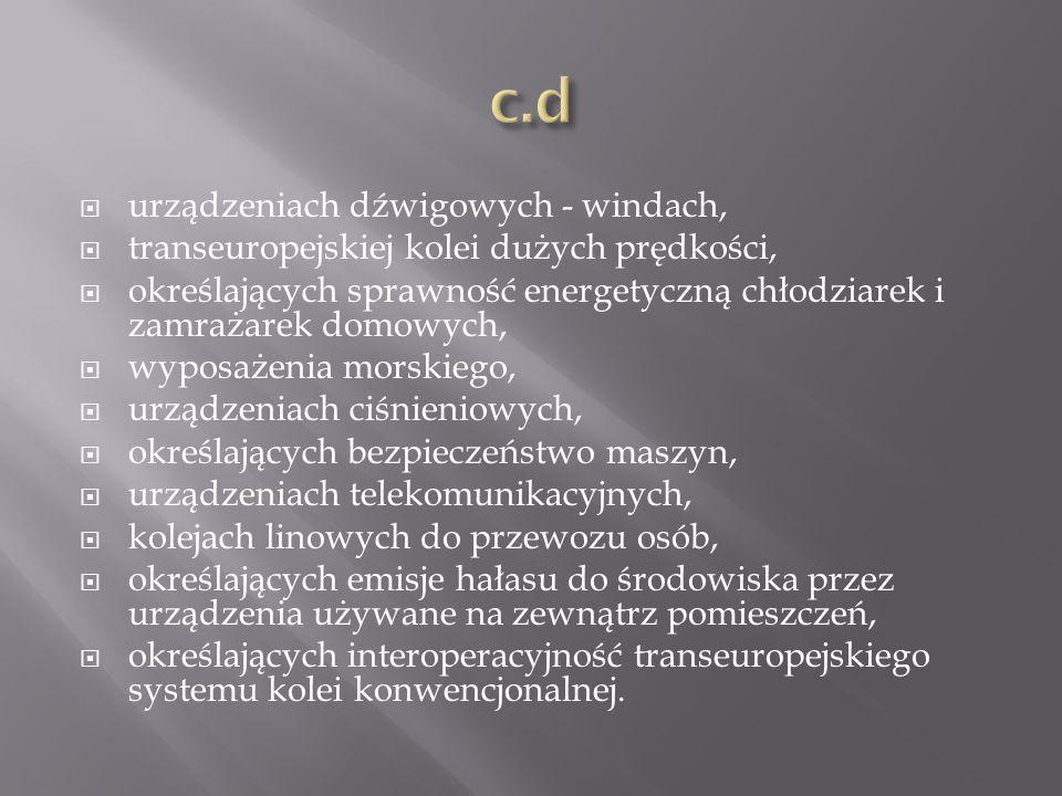 c.d urządzeniach dźwigowych - windach,