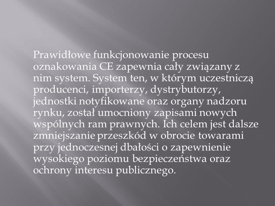 Prawidłowe funkcjonowanie procesu oznakowania CE zapewnia cały związany z nim system.