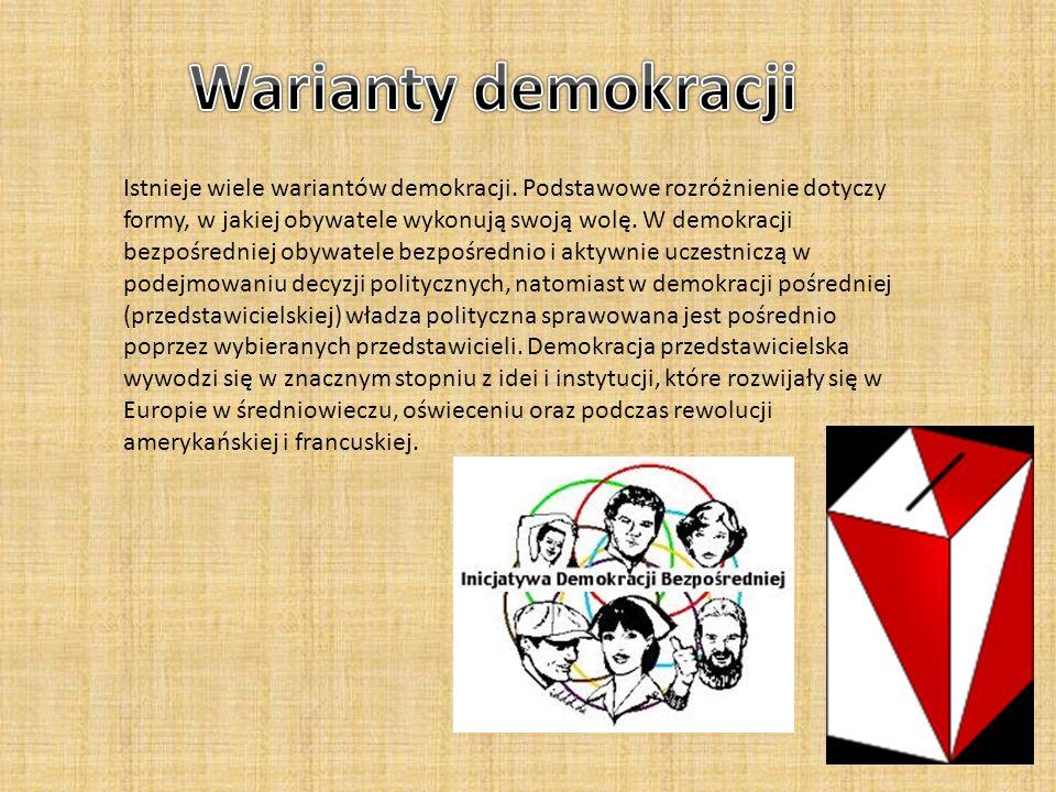 Warianty demokracji