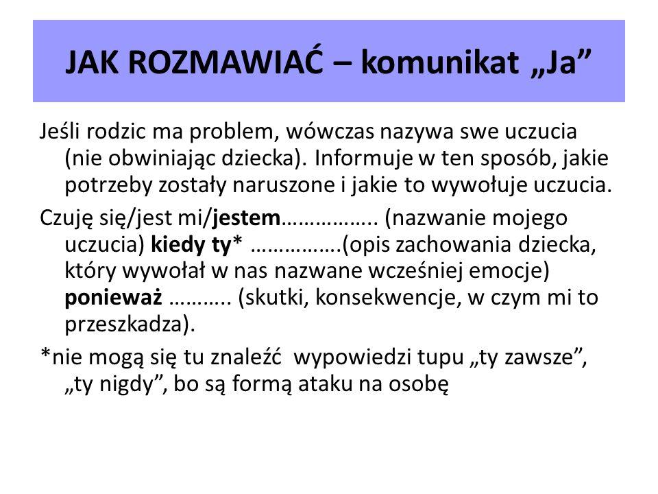 """JAK ROZMAWIAĆ – komunikat """"Ja"""