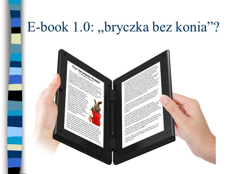 """E-book 1.0: """"bryczka bez konia"""