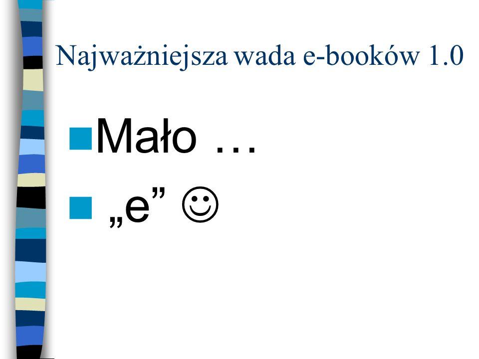 Najważniejsza wada e-booków 1.0