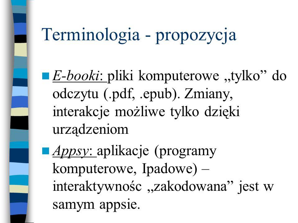 Terminologia - propozycja