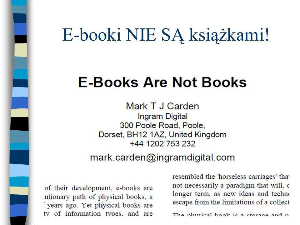 E-booki NIE SĄ książkami!
