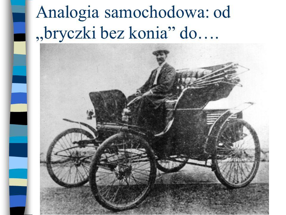 """Analogia samochodowa: od """"bryczki bez konia do…."""