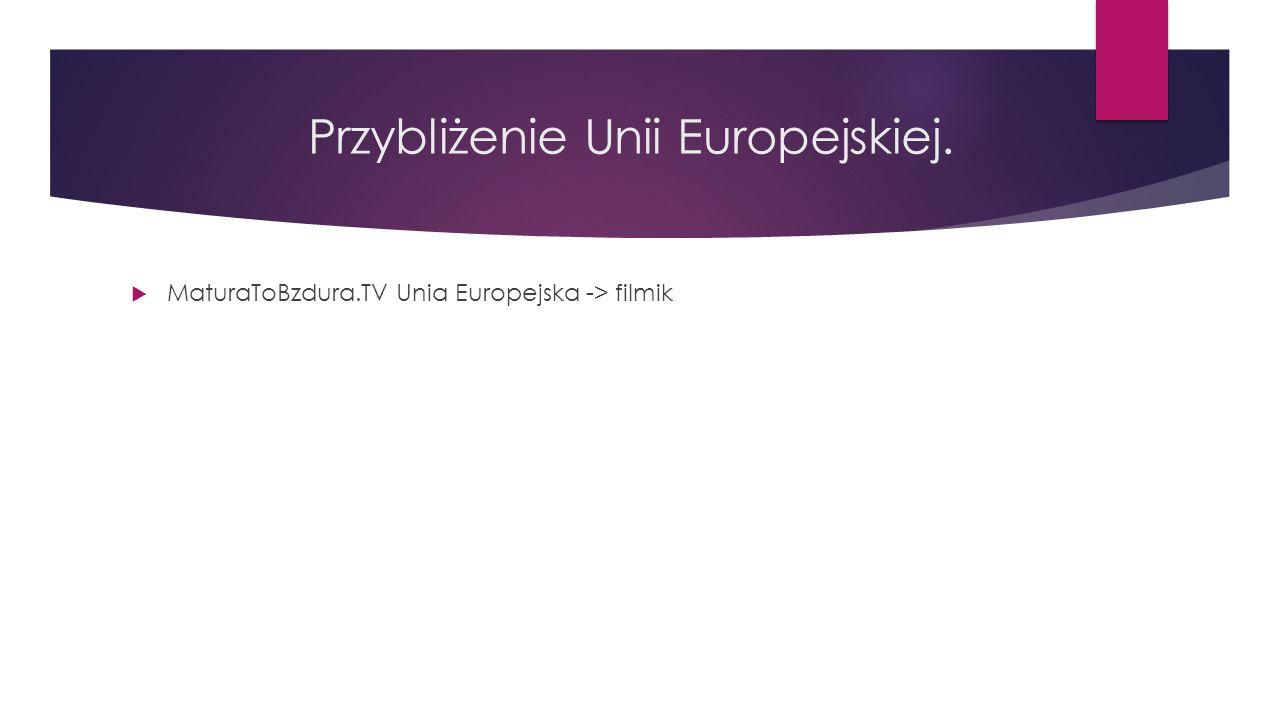 Przybliżenie Unii Europejskiej.