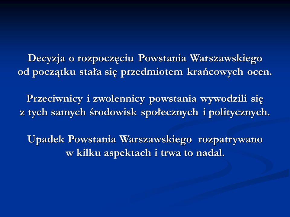 Decyzja o rozpoczęciu Powstania Warszawskiego