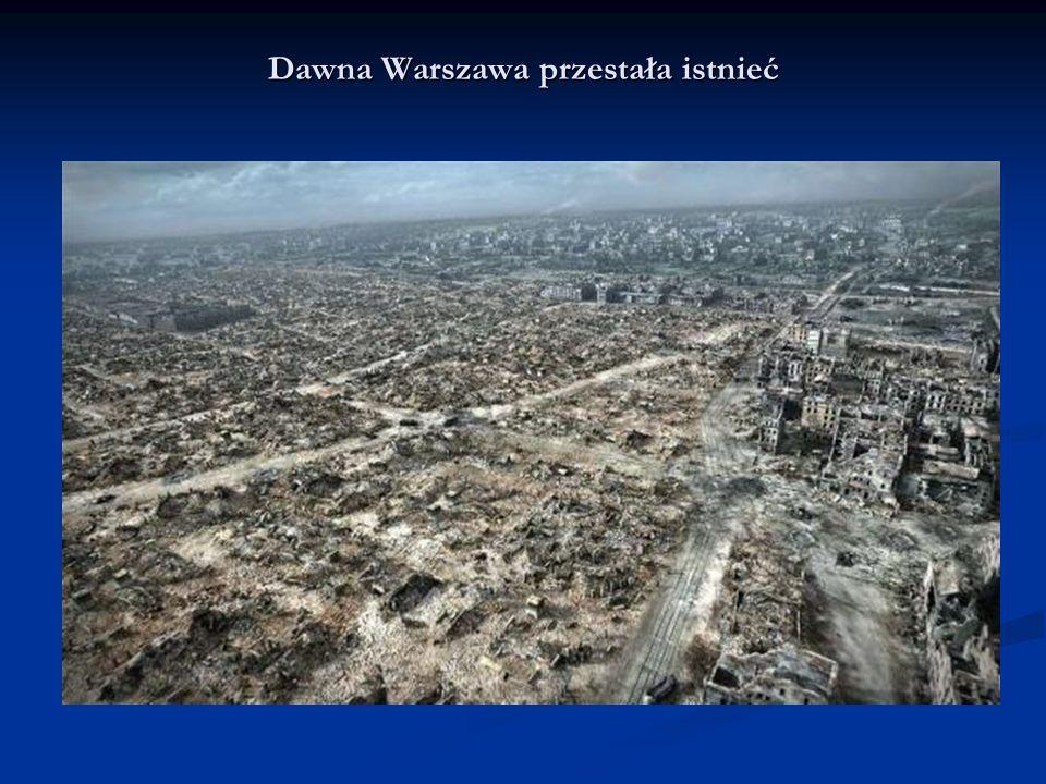 Dawna Warszawa przestała istnieć