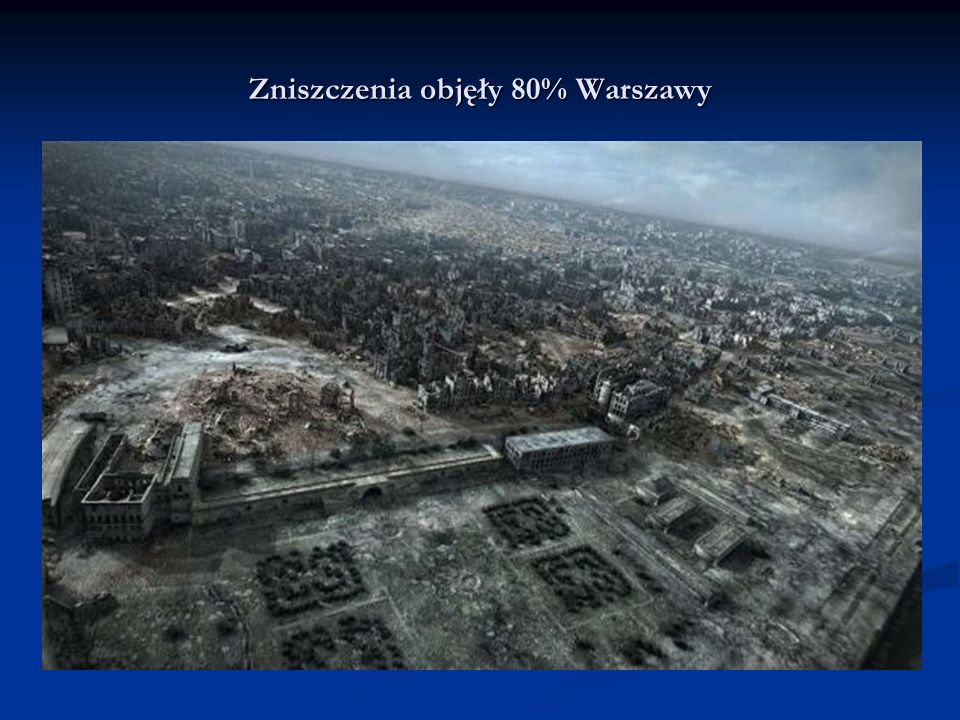 Zniszczenia objęły 80% Warszawy
