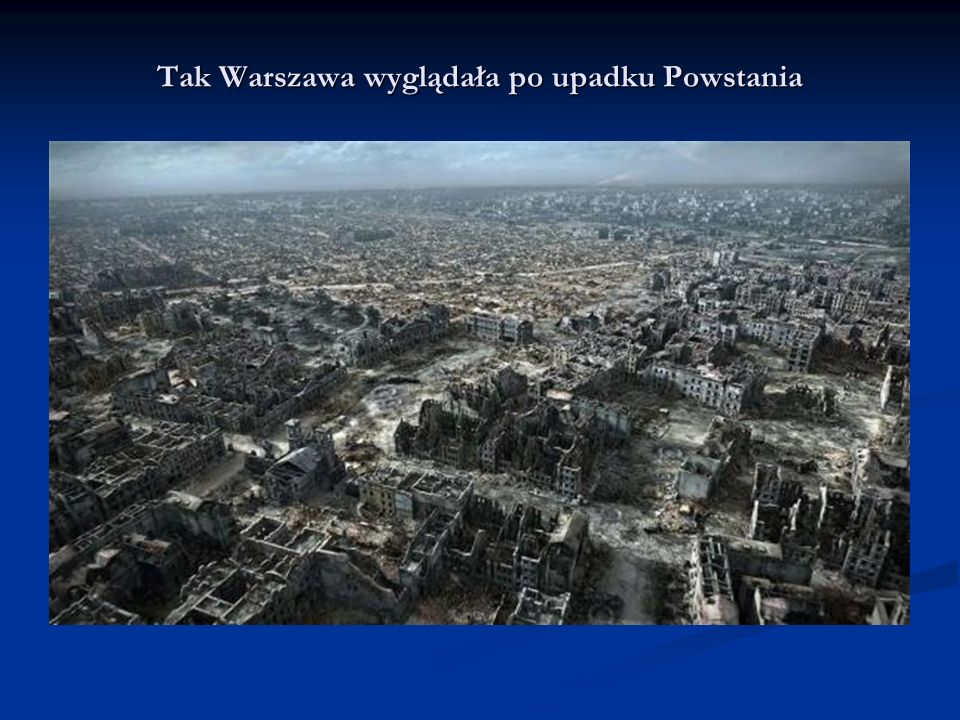 Tak Warszawa wyglądała po upadku Powstania