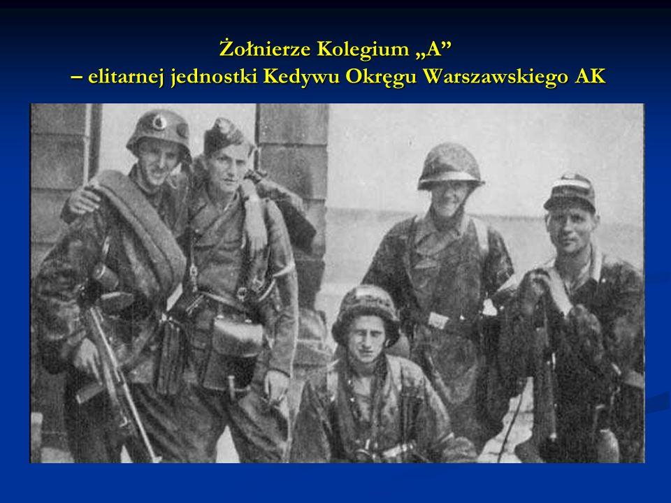 """Żołnierze Kolegium """"A – elitarnej jednostki Kedywu Okręgu Warszawskiego AK"""