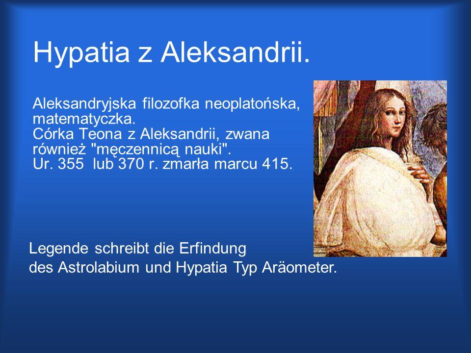 Hypatia z Aleksandrii.