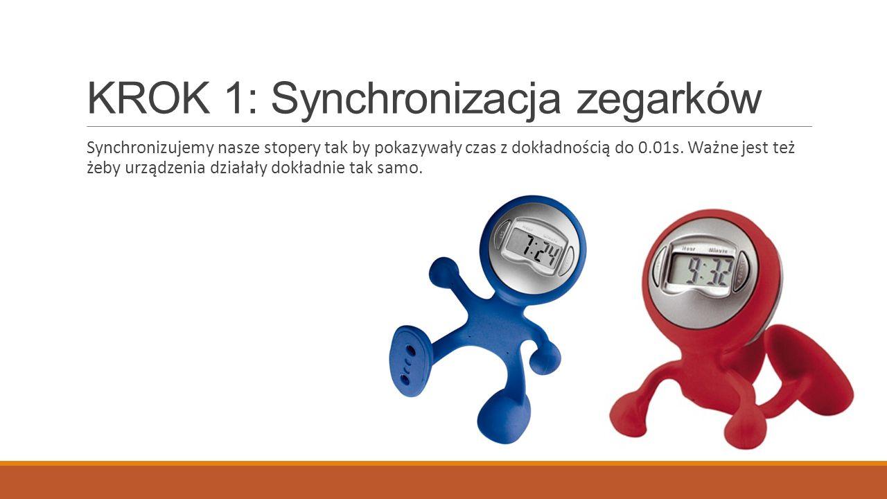 KROK 1: Synchronizacja zegarków