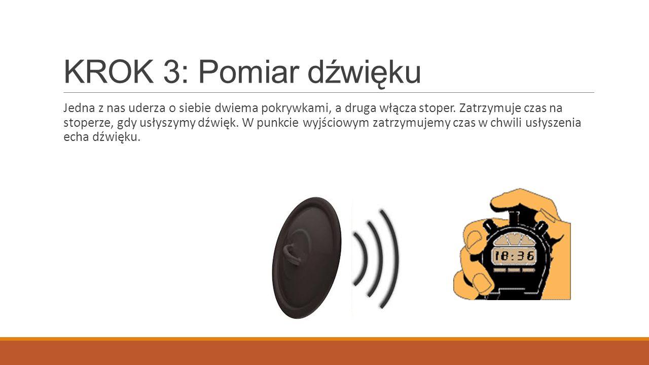 KROK 3: Pomiar dźwięku