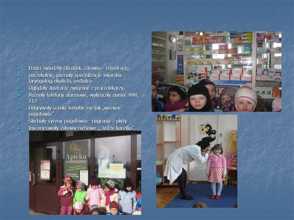 Dzieci zwiedziły Ośrodek Zdrowia – rejestrację,