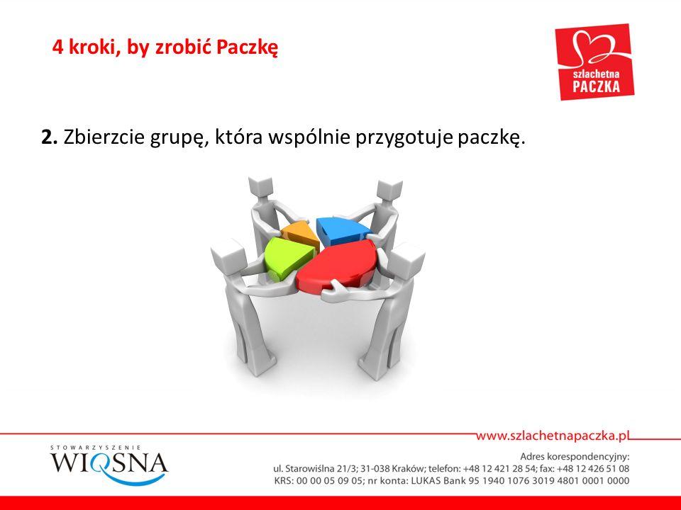 4 kroki, by zrobić Paczkę 2. Zbierzcie grupę, która wspólnie przygotuje paczkę.