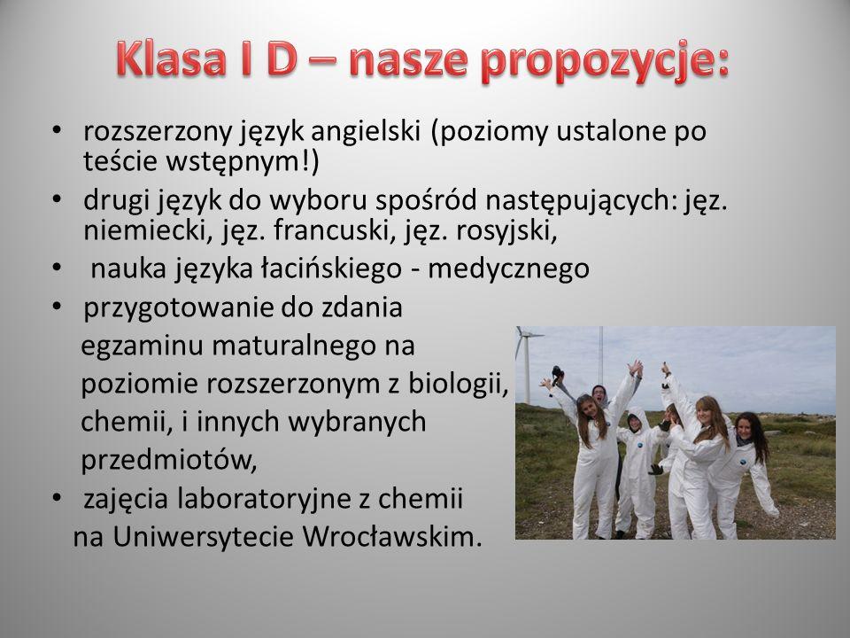 Klasa I D – nasze propozycje: