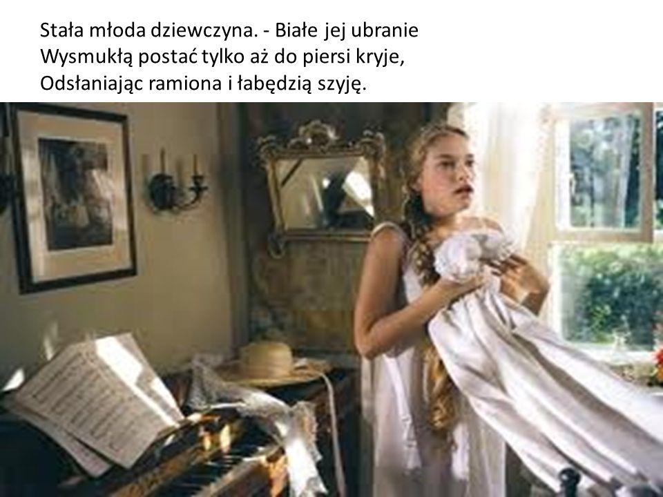 Stała młoda dziewczyna