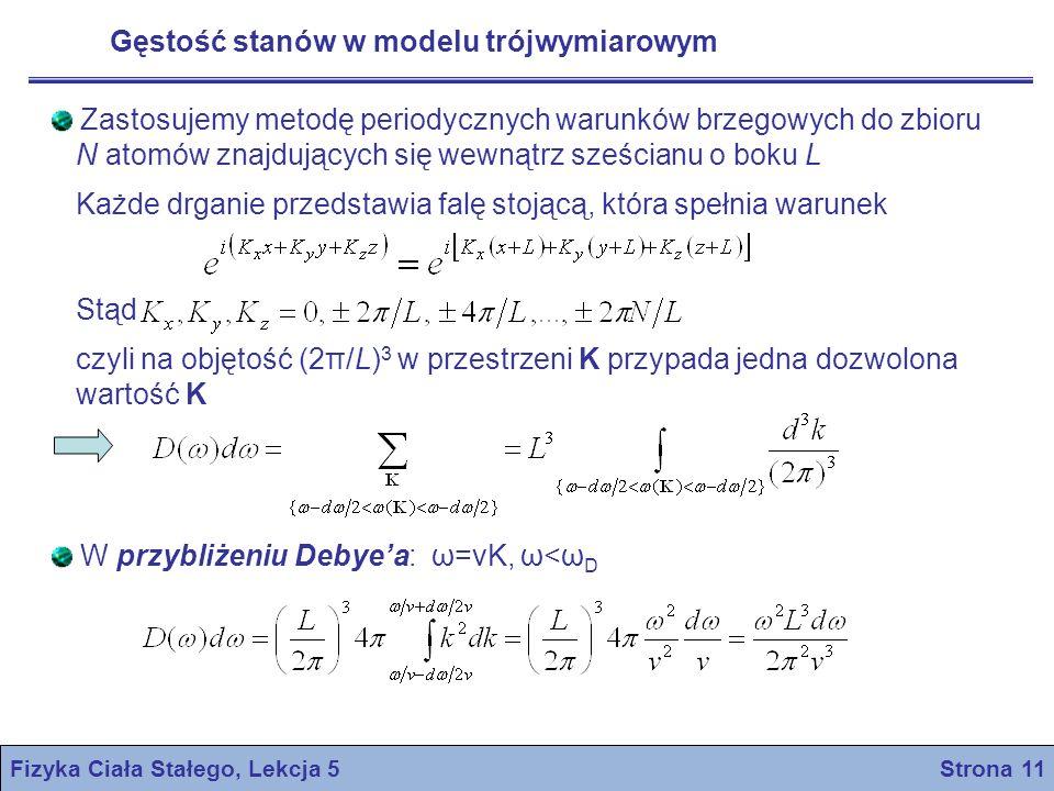 Fizyka Ciała Stałego, Lekcja 5 Strona 11