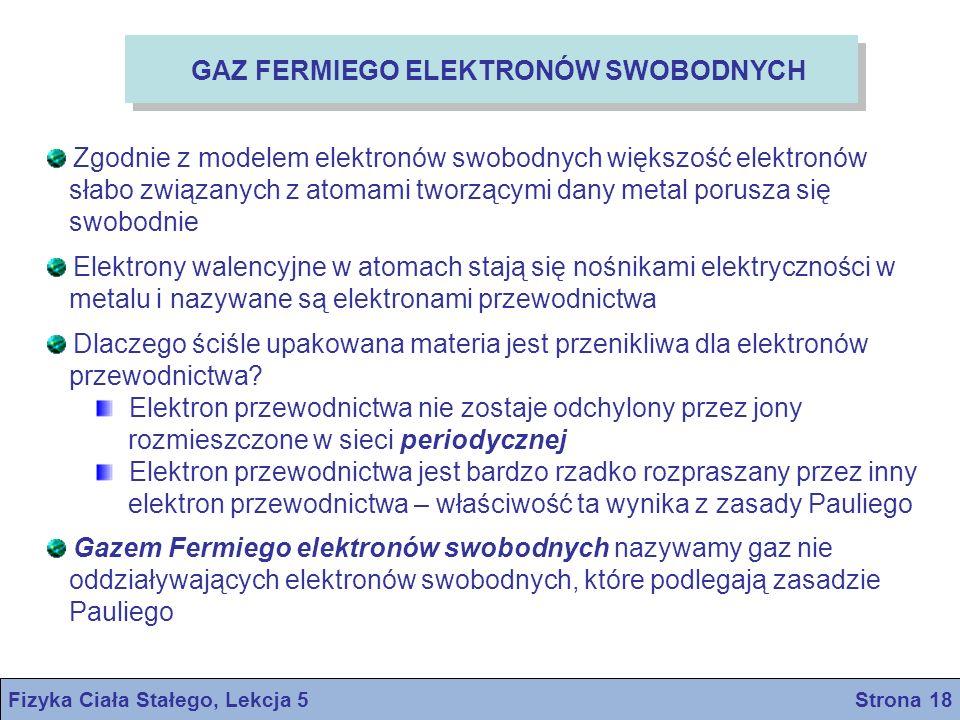 Fizyka Ciała Stałego, Lekcja 5 Strona 18