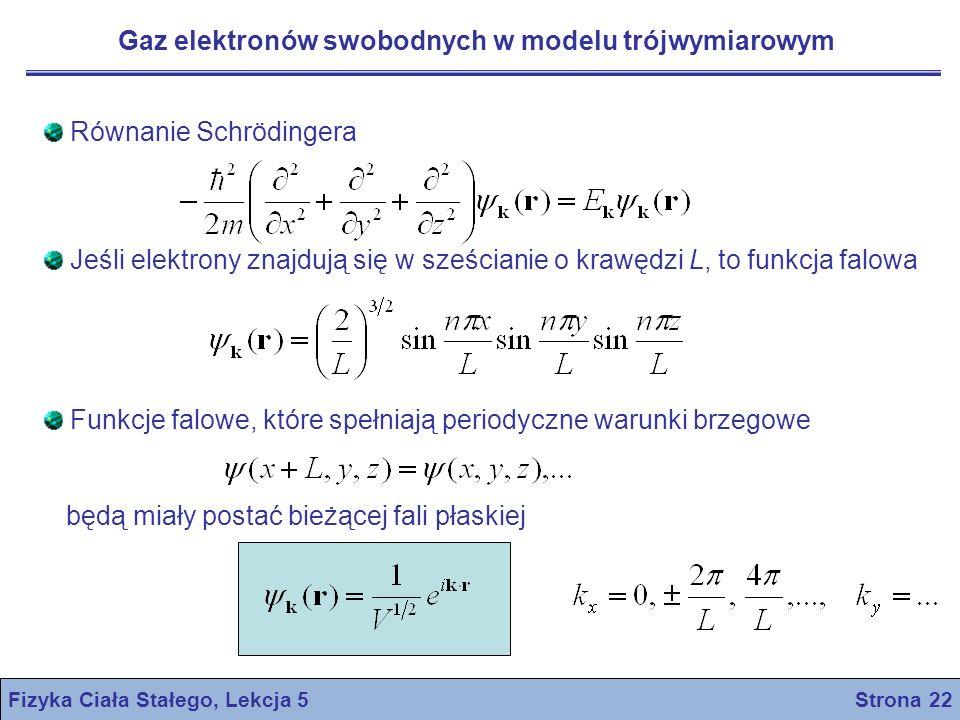Fizyka Ciała Stałego, Lekcja 5 Strona 22