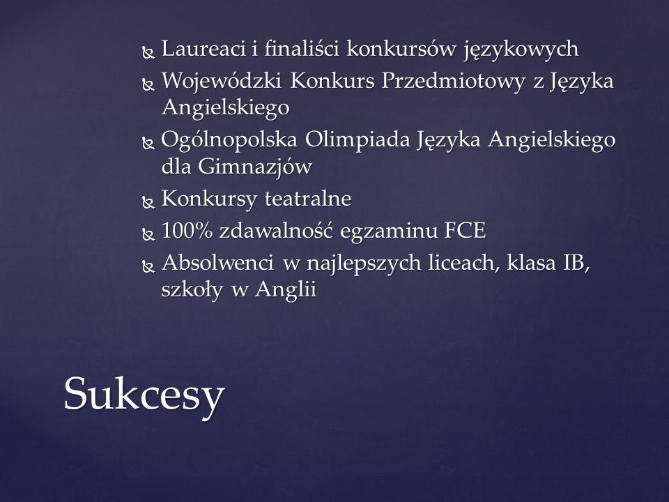 Sukcesy Laureaci i finaliści konkursów językowych