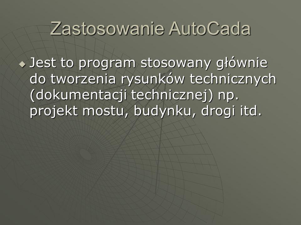 Zastosowanie AutoCada