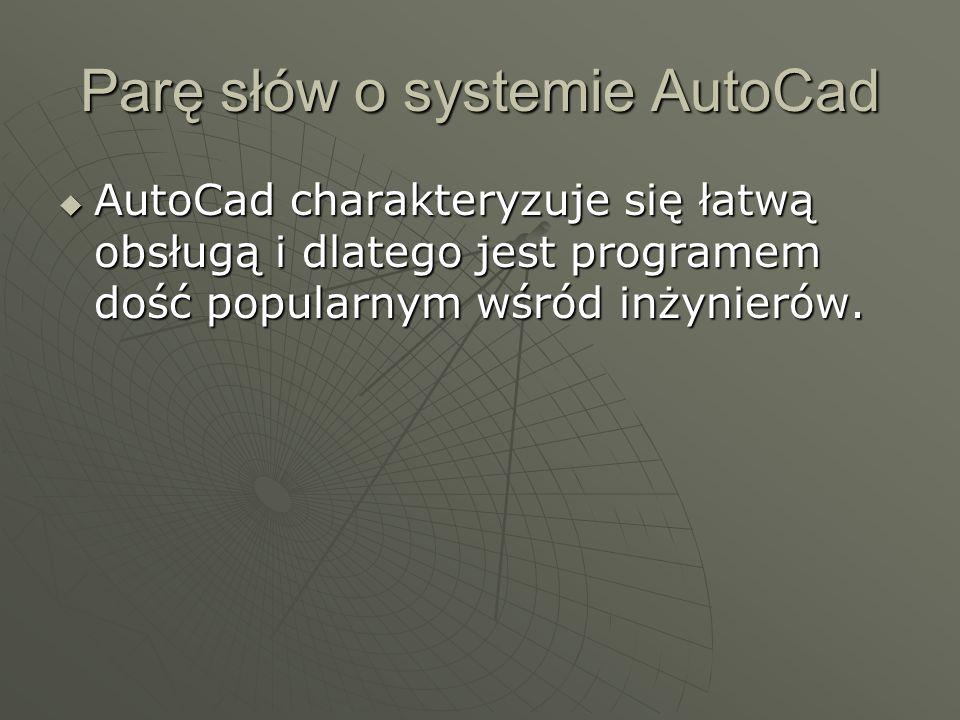Parę słów o systemie AutoCad