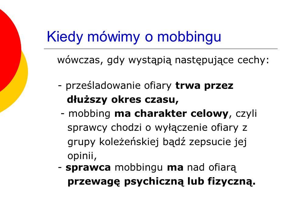Kiedy mówimy o mobbingu