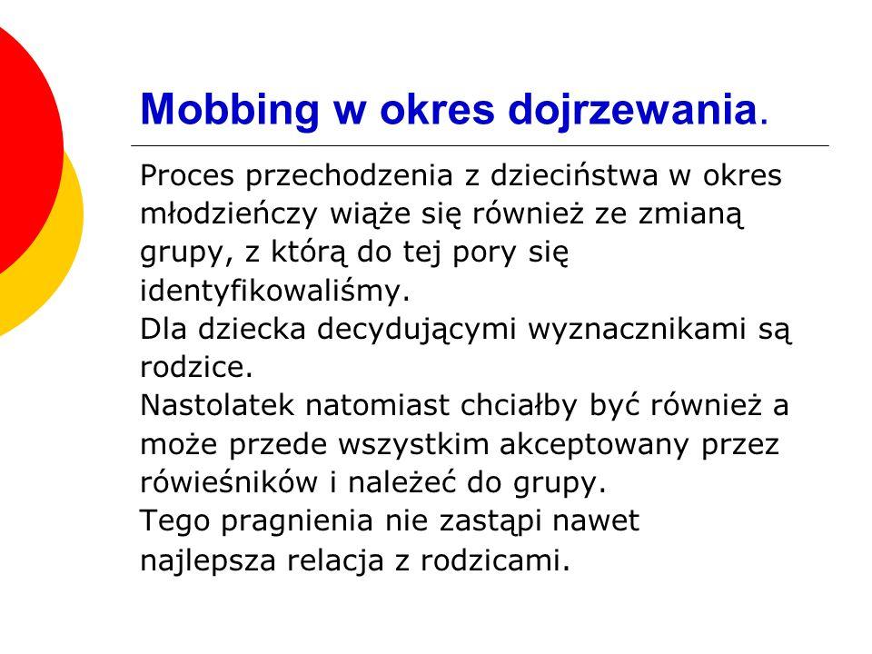 Mobbing w okres dojrzewania.