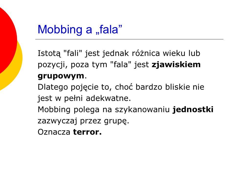 """Mobbing a """"fala Istotą fali jest jednak różnica wieku lub"""