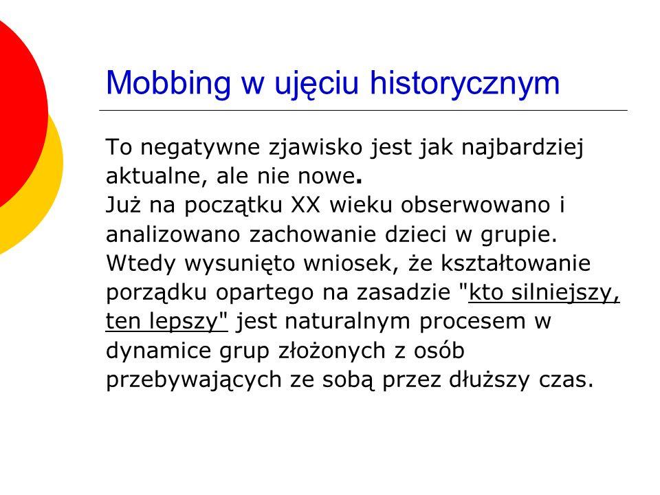 Mobbing w ujęciu historycznym