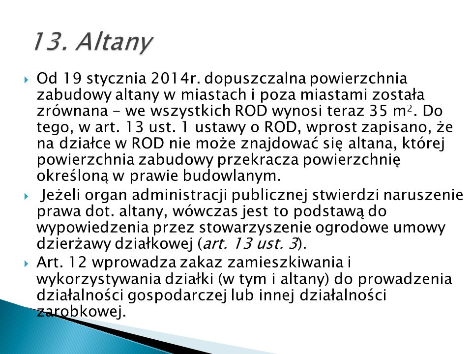 13. Altany
