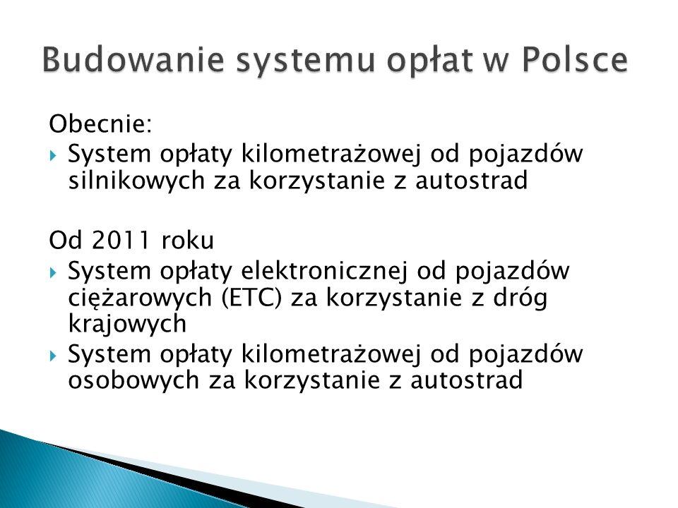 Budowanie systemu opłat w Polsce