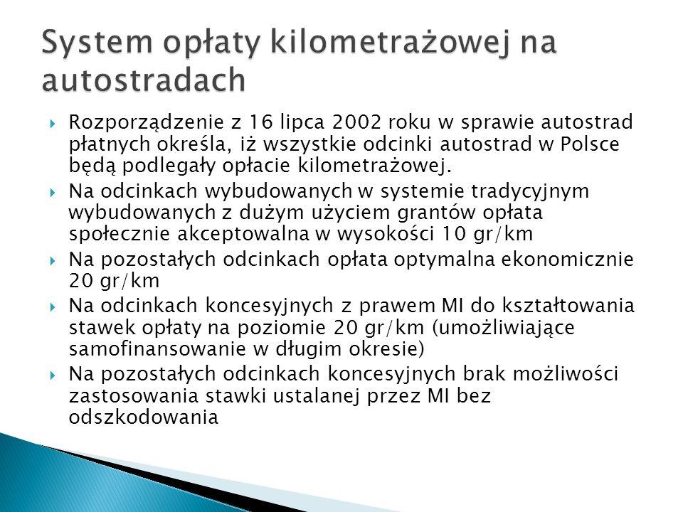 System opłaty kilometrażowej na autostradach