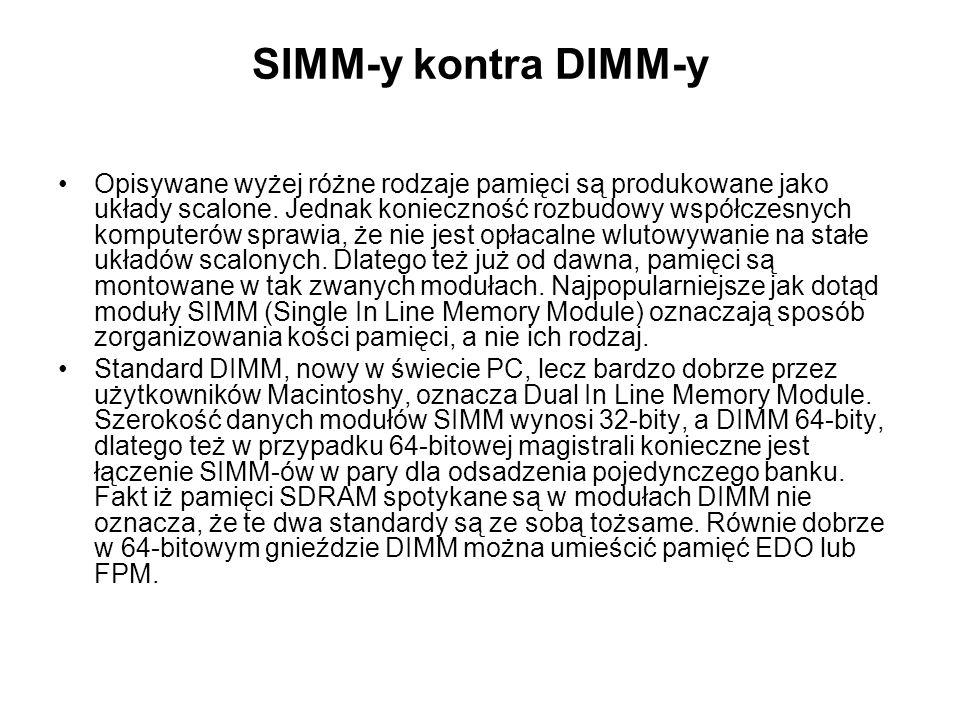 SIMM-y kontra DIMM-y