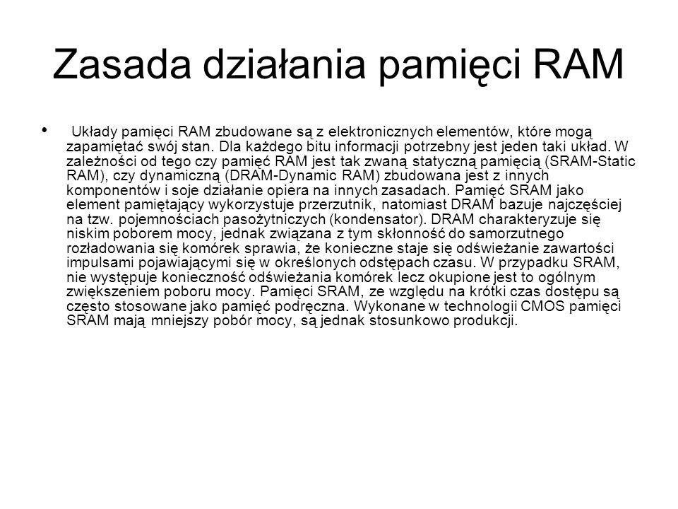 Zasada działania pamięci RAM