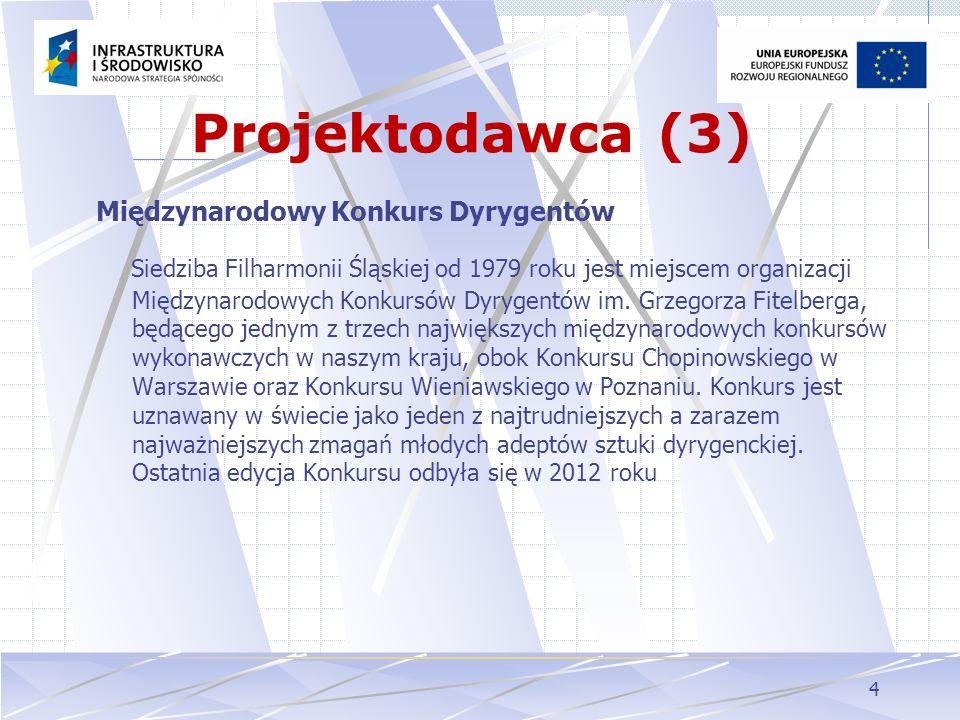 Projektodawca (3) Międzynarodowy Konkurs Dyrygentów.