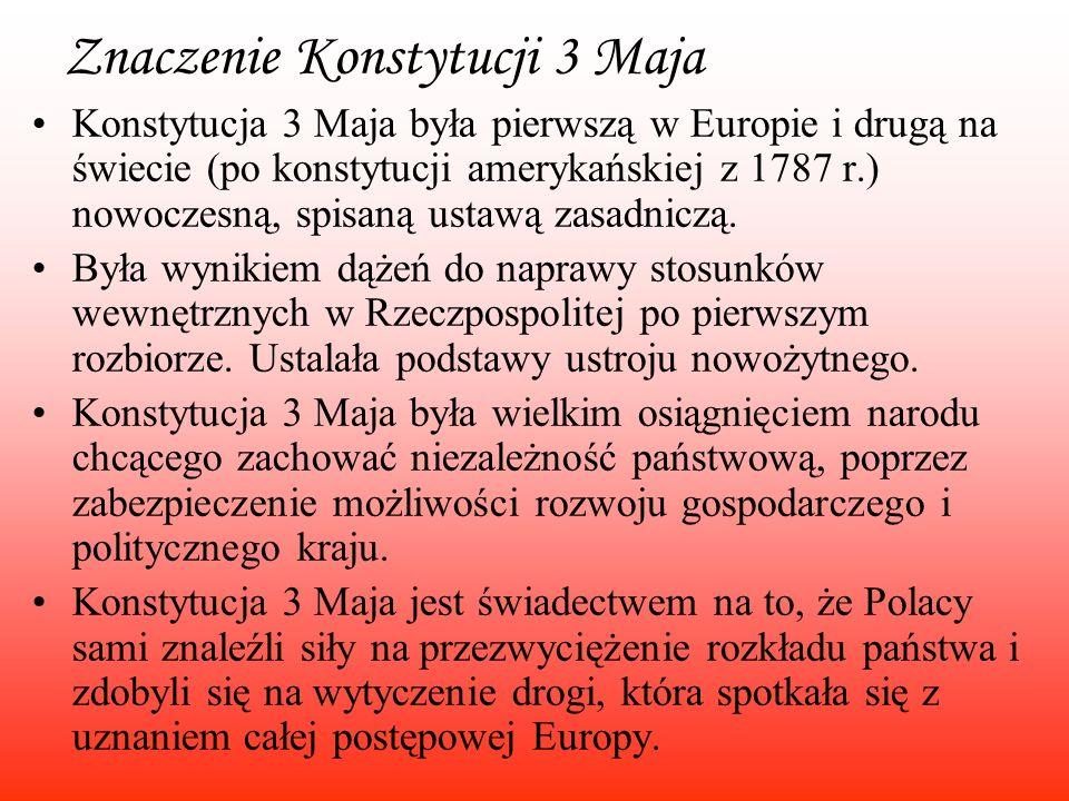 Znaczenie Konstytucji 3 Maja