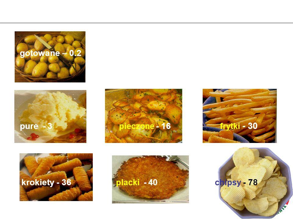 pure - 3 pieczone - 16 frytki - 30