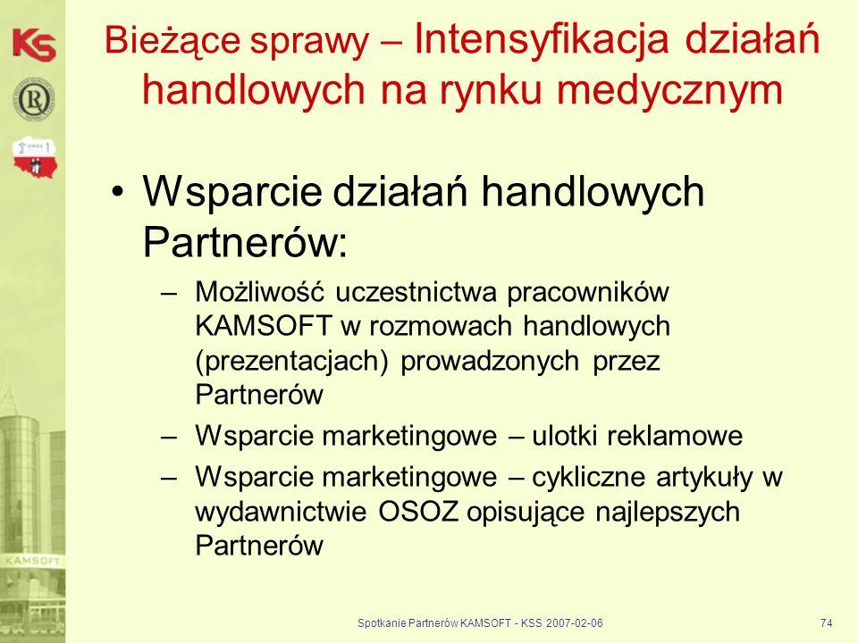 Bieżące sprawy – Intensyfikacja działań handlowych na rynku medycznym