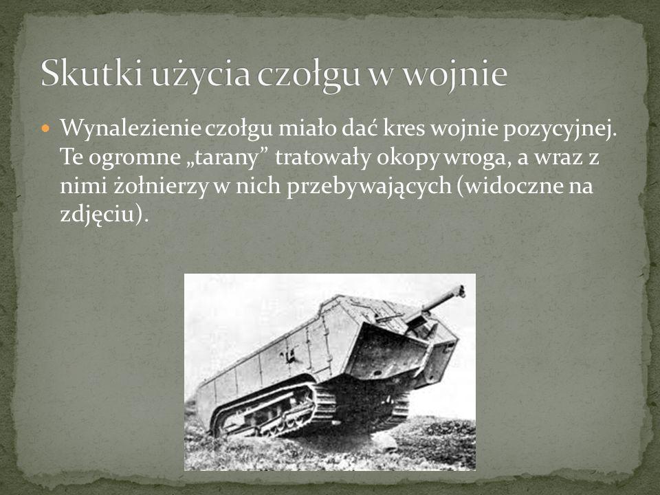 Skutki użycia czołgu w wojnie
