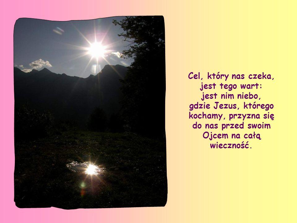 Cel, który nas czeka, jest tego wart: jest nim niebo, gdzie Jezus, którego kochamy, przyzna się do nas przed swoim Ojcem na całą wieczność.