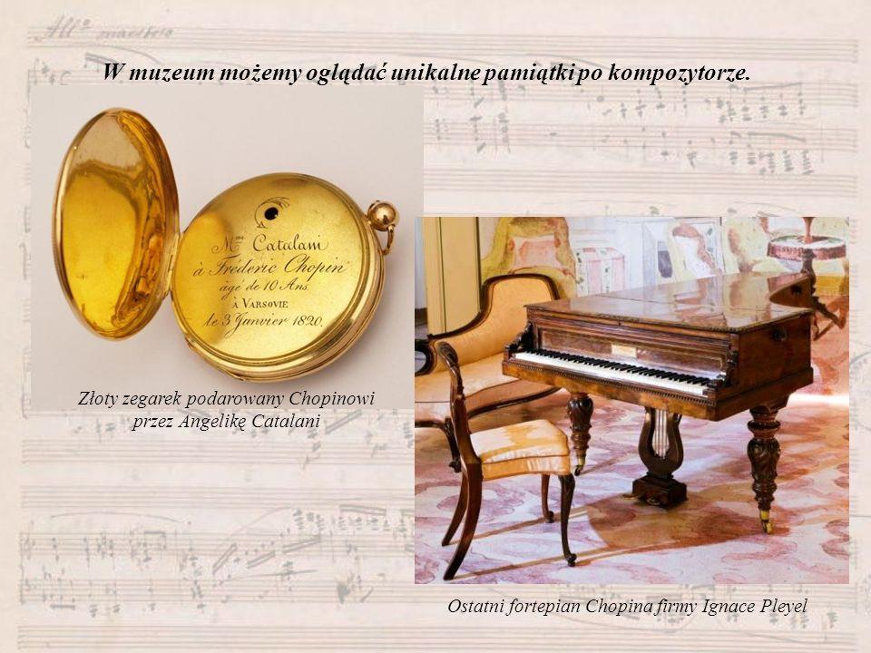 W muzeum możemy oglądać unikalne pamiątki po kompozytorze.