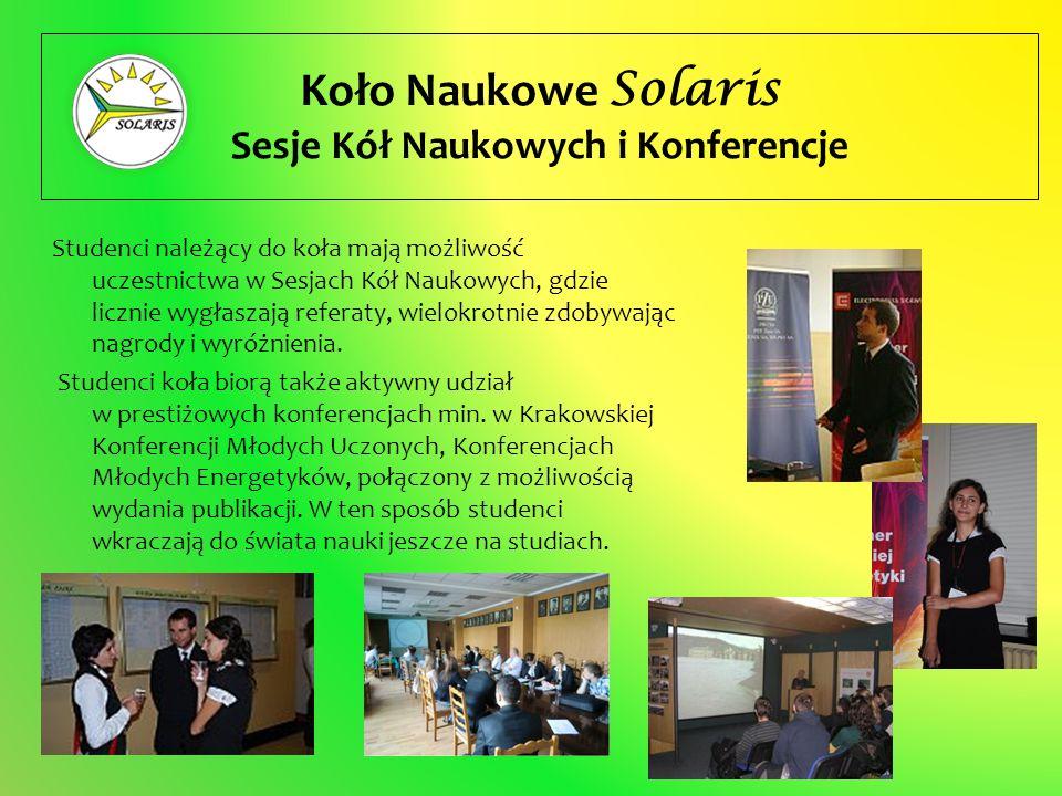 Sesje Kół Naukowych i Konferencje