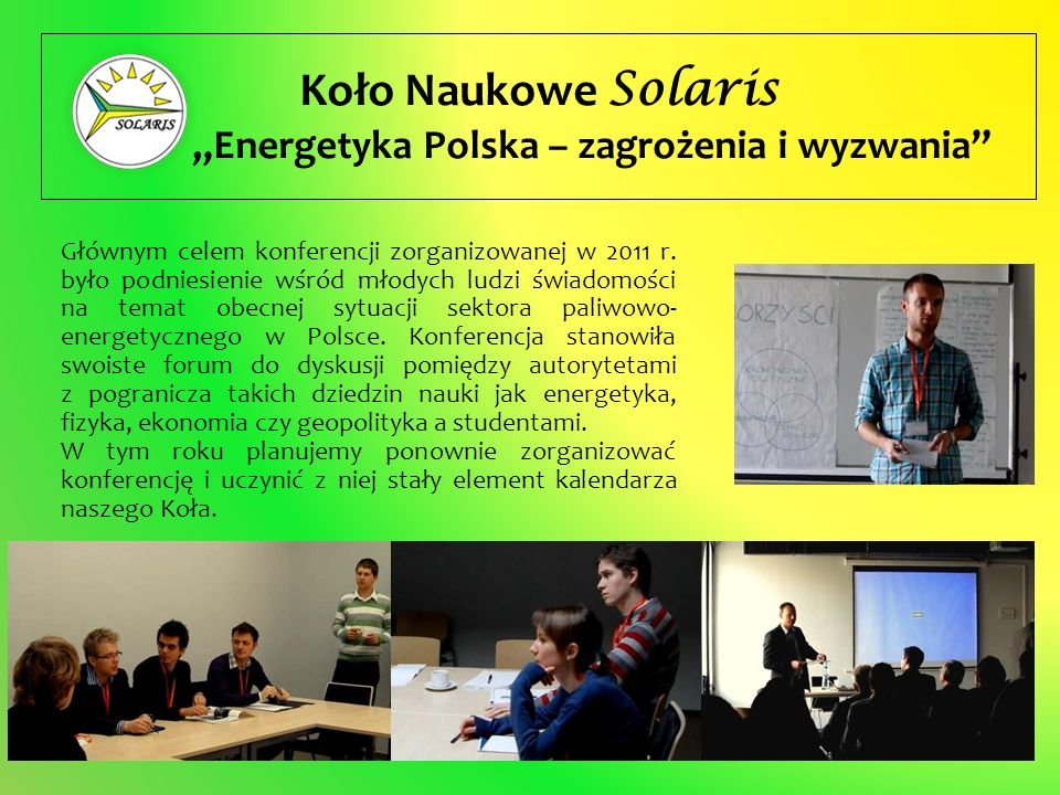 """""""Energetyka Polska – zagrożenia i wyzwania"""
