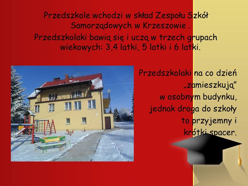 Przedszkole wchodzi w skład Zespołu Szkół Samorządowych w Krzeszowie