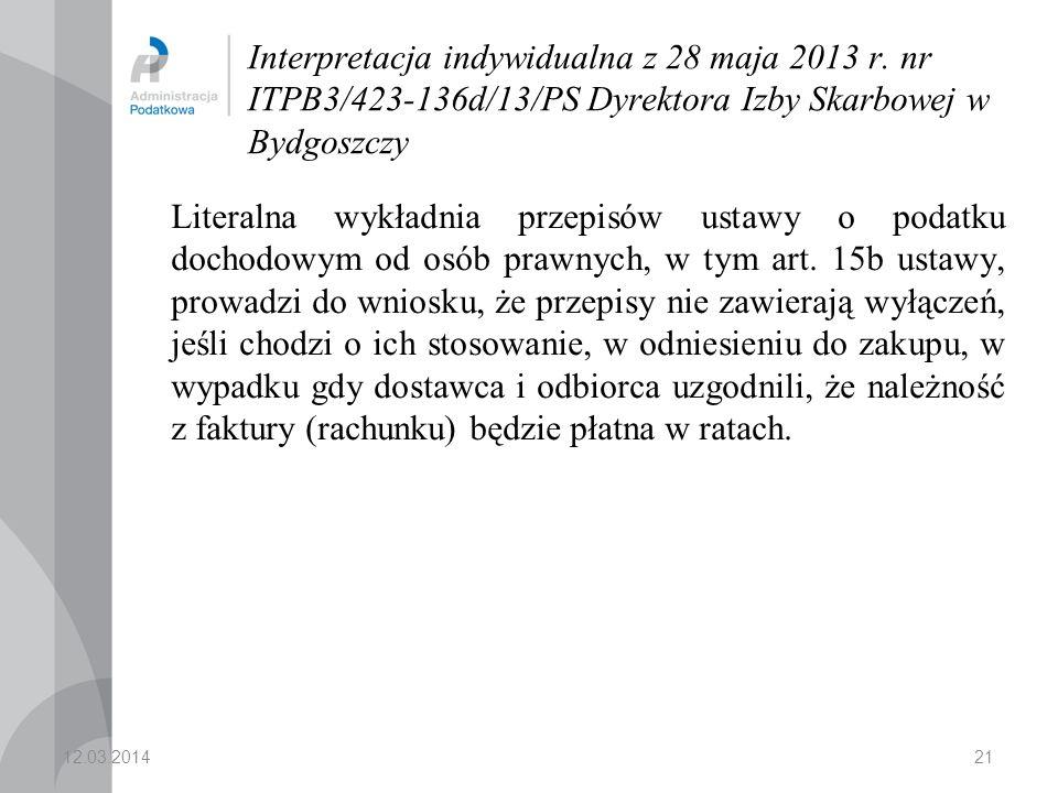 Interpretacja indywidualna z 28 maja 2013 r