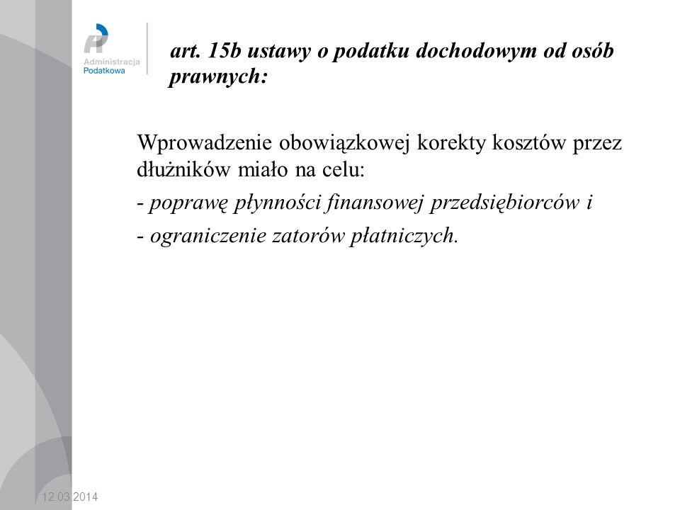 art. 15b ustawy o podatku dochodowym od osób prawnych: