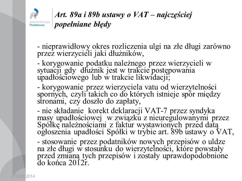 Art. 89a i 89b ustawy o VAT – najczęściej popełniane błędy